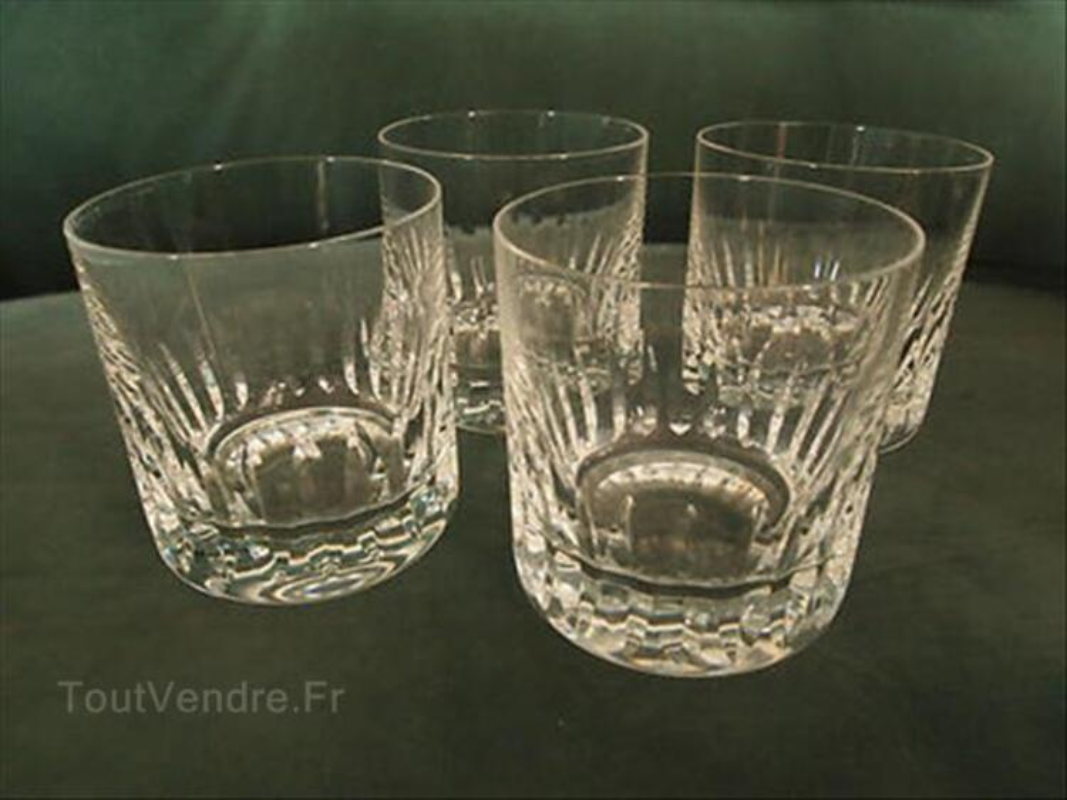 4 verres à Whisky St Louis  - cristal - France 87610434
