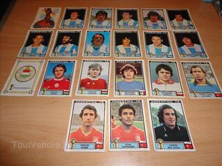 43 Vignettes stickers WC Panini Argentina 78