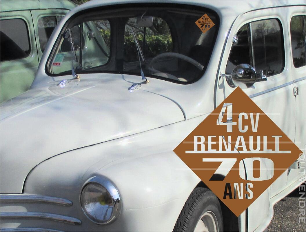 4CV RENAULT idée CADEAU stickers accessoire 297642890