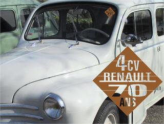 4CV RENAULT idée CADEAU stickers accessoire