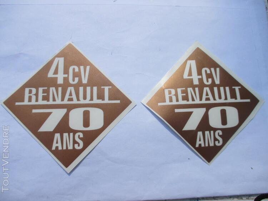 4CV RENAULT idée CADEAU stickers accessoire 297642899