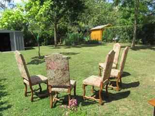 5 chaises os de mouton