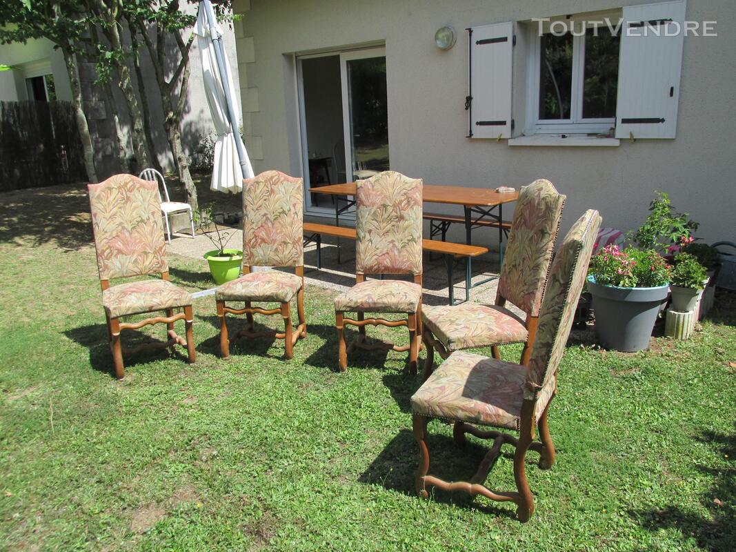 5 chaises os de mouton 253505350