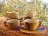 5 TASSES A CAFE + SOUCOUPES GRANDJEAN JOURDAN VALLAURIS