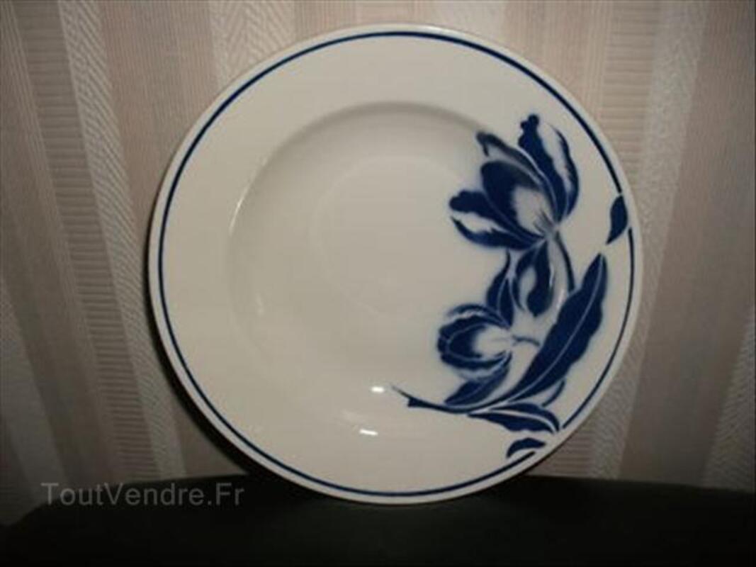6 assiettes creuses décor Tulipes  Badonviller 54706454