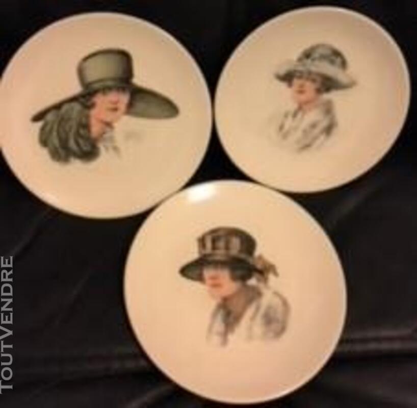6 Belles assiettes-Porcelaine FD Chauvigny 379976499
