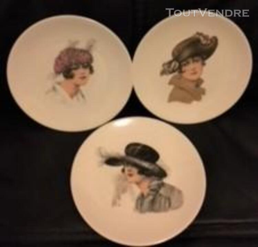 6 Belles assiettes-Porcelaine FD Chauvigny 379976529