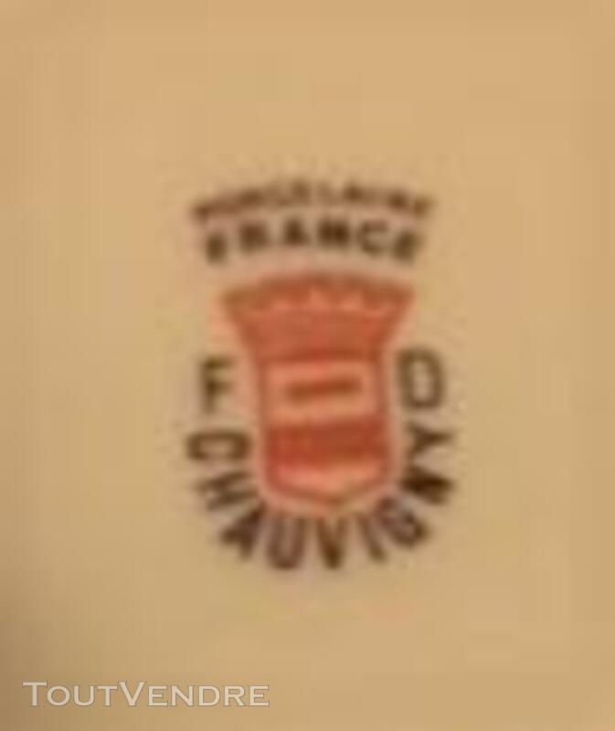 6 Belles assiettes-Porcelaine FD Chauvigny 379976565