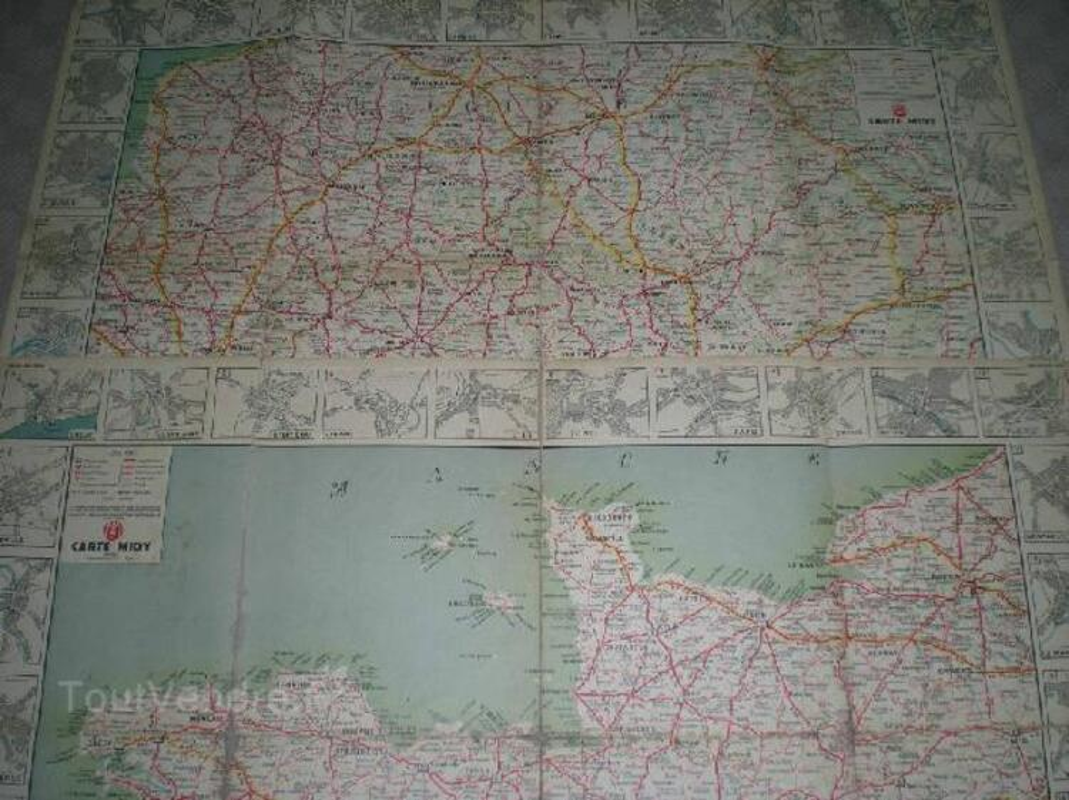 6 cartes routières Labo Midy 1920-30 91912473