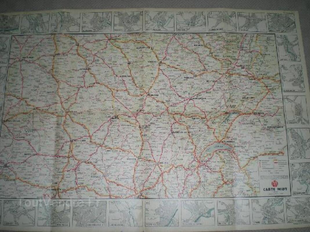 6 cartes routières Labo Midy 1920-30 91912474
