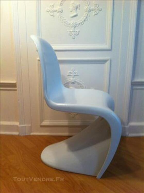 6 Chaises blanches design style Panton 85709271