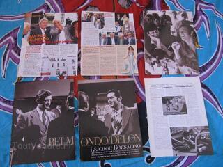 6 coupures de presse Alain Delon ,J P Belmondo,clipping