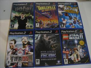 6 jeux PS2 a 50 euro
