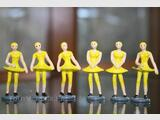 6 PERSONNAGES MINIATURES EN PLOMB DU TOUR DE FRANCE