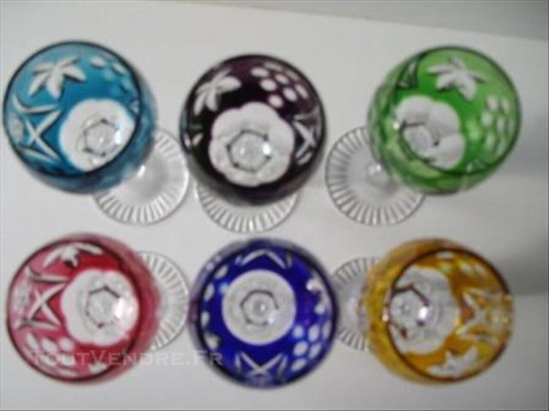 6 verres a liqueur en cristal de lorraine1950 81700924