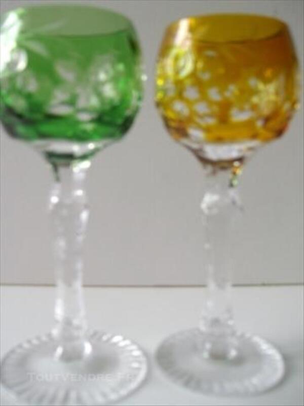 6 verres a liqueur en cristal de lorraine1950 81700930