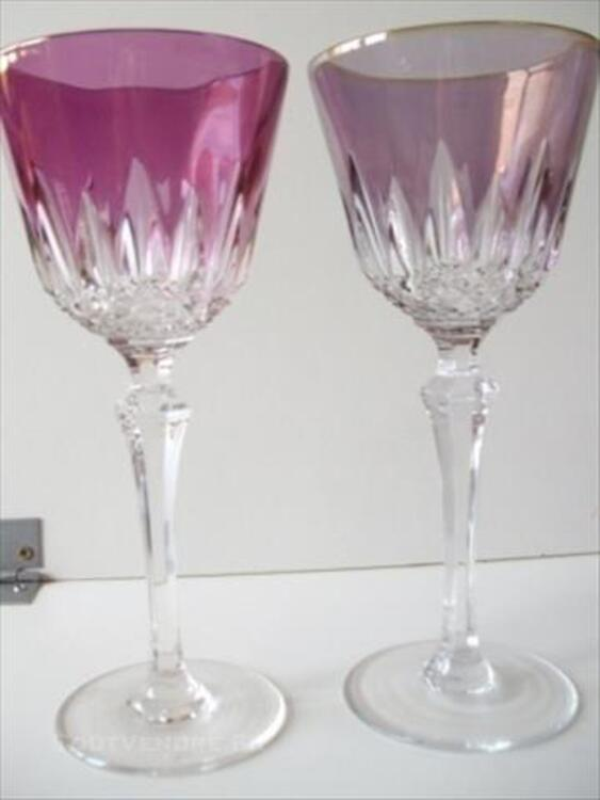 6 verres à vin en cristal des vosges 86145601