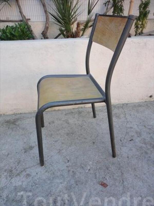 9 chaises écolier vintage 56443353