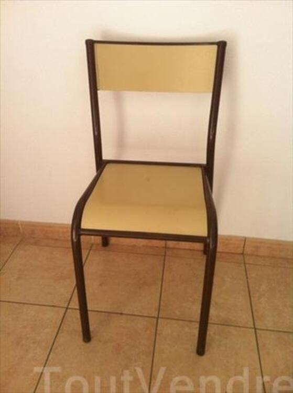 9 chaises écolier vintage 56443354