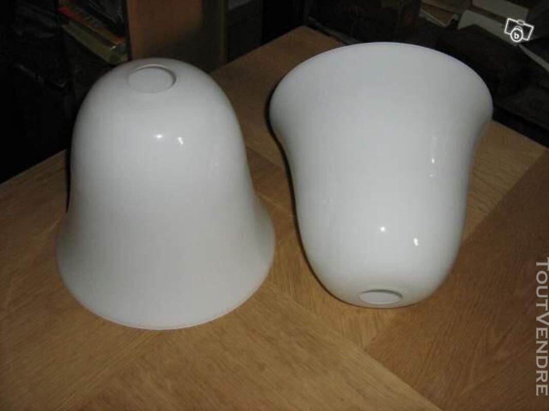 Abat jour TULIPE OPALINE RÉFLECTEUR DE LAMPE ART DÉCO MAZDA 628849699