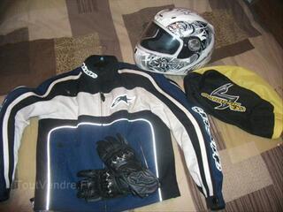 Accessoires moto gant,casque,manteau
