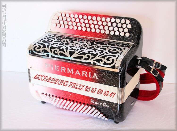ACCORDEON PIERMARIA P 318 L PROFESSIONNEL MUSETTE. 279094192