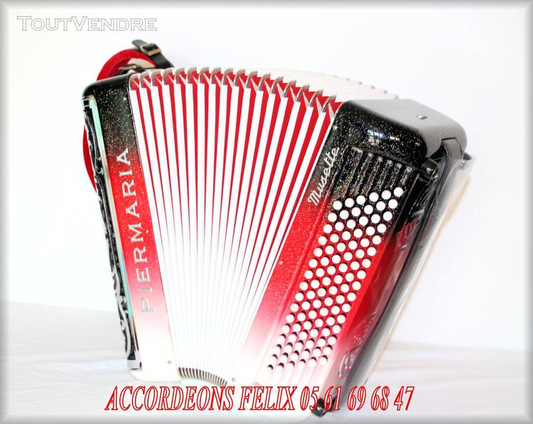 ACCORDEON PIERMARIA P 318 L PROFESSIONNEL MUSETTE. 279094195