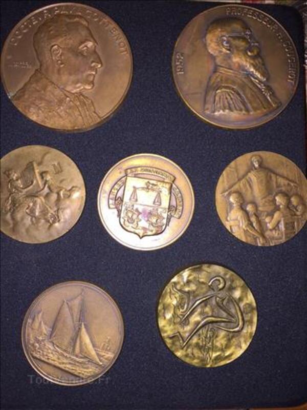 Achète lots médailles bronze, argent, écus.... 101685800