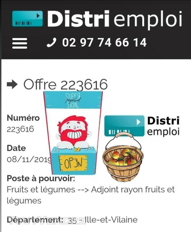 Adjoint rayon fruits et légumes H/F (35) 613462149