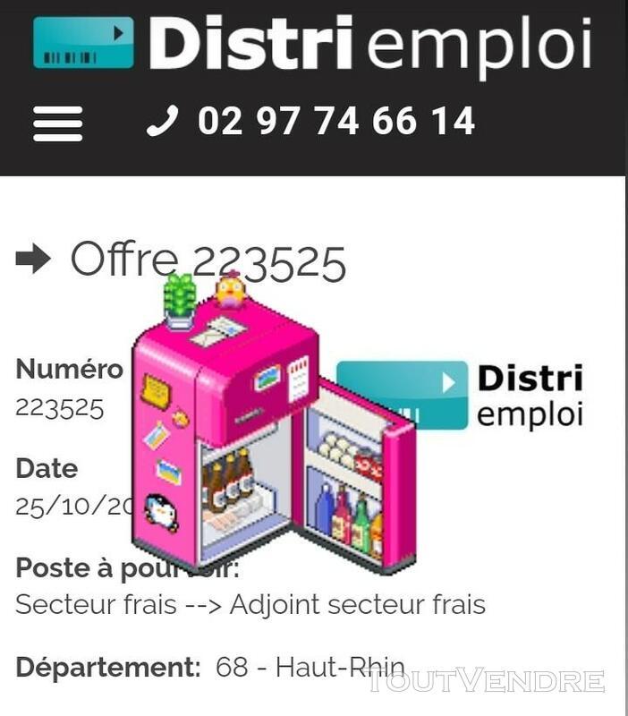 Adjoint secteur frais H/F (68) 615180429