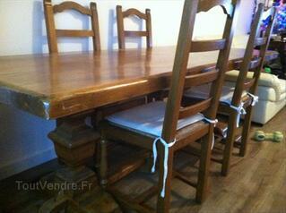 AFFAIRE : Table et chaises en chêne massif