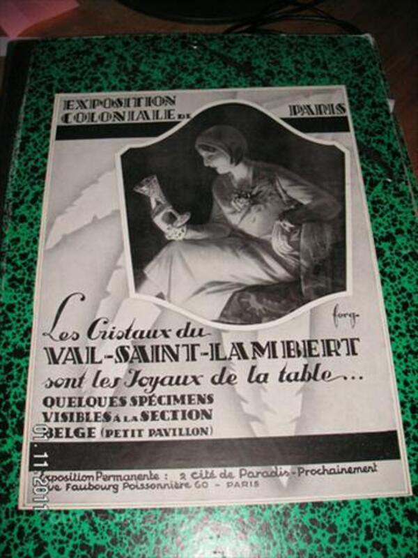 Affiche cristaux du Val Saint Lambert 74010926