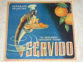 Affiche  originale ORANGES SERVIDO Poisson