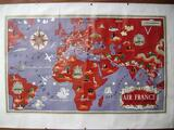Affiche planisphere air france