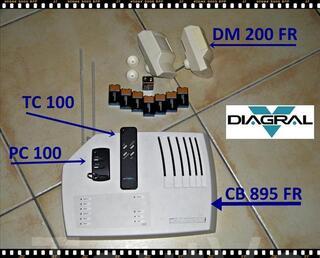 ALARME DIAGRAL CB 895 FR complète sans fil