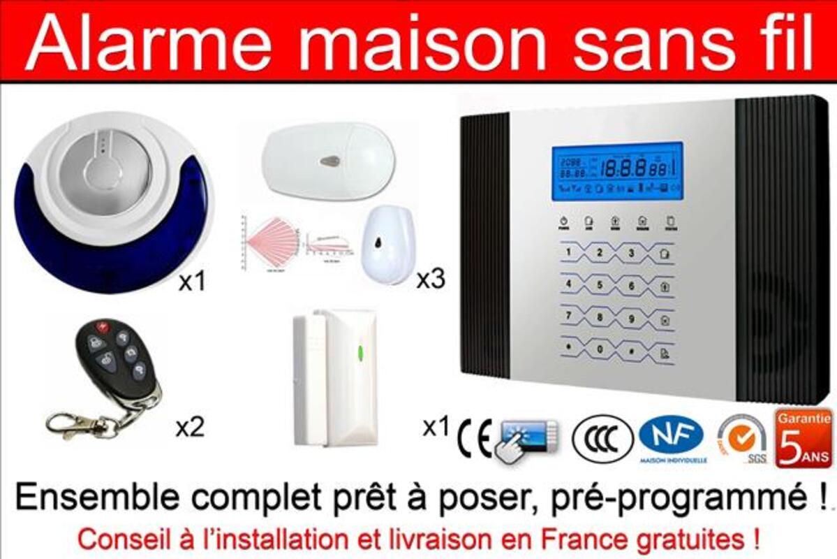 Alarme Maison sans fil haute gamme 105887131