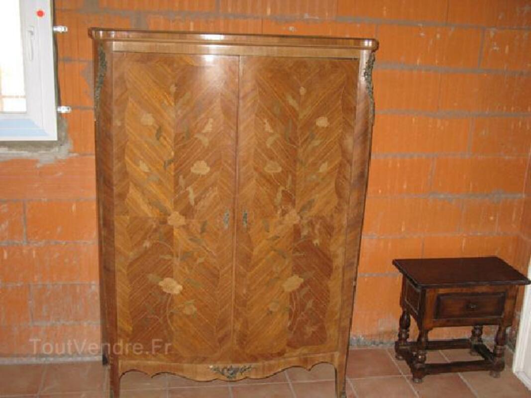 AMOIRE BOIS DE ROSE marquetée style LOUIS XV 90045773