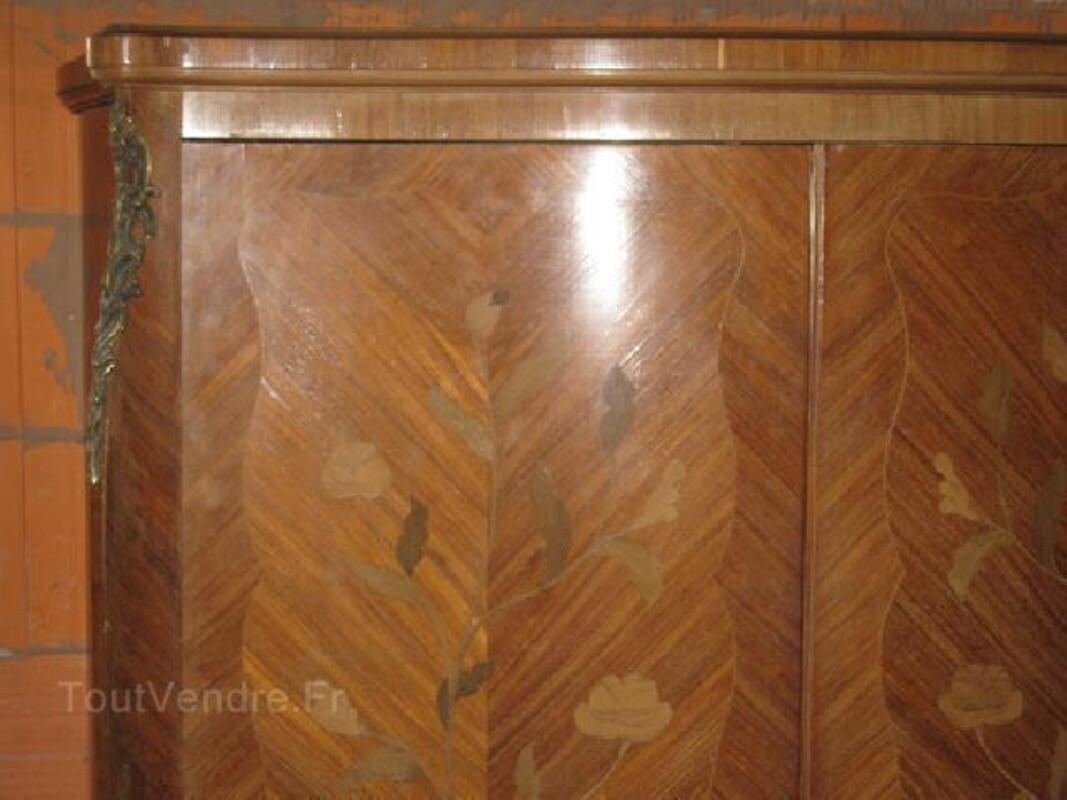 AMOIRE BOIS DE ROSE marquetée style LOUIS XV 90045775