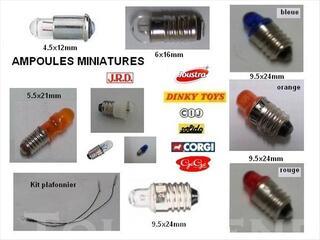 Ampoules et pièces électrique pour jouets anciens