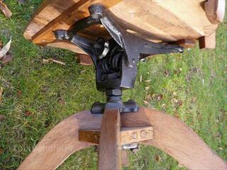 Ancien fauteuil de bureau de type us,bois