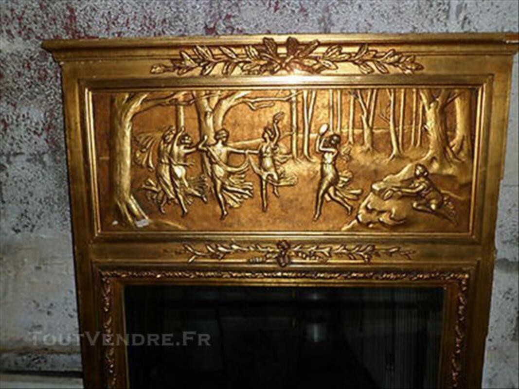 Ancien grand miroir trumeau style louis xiv fin xix eme 85993174