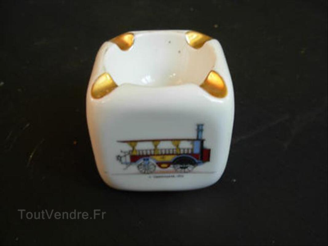 Ancien Petit Cendrier Limoges Train Voitures 89199556