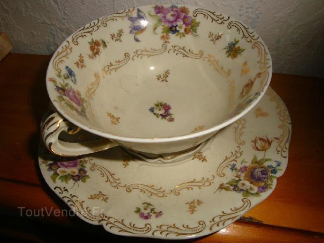 Ancien petit déjeuner porcelaine de Limoges fine 102502133