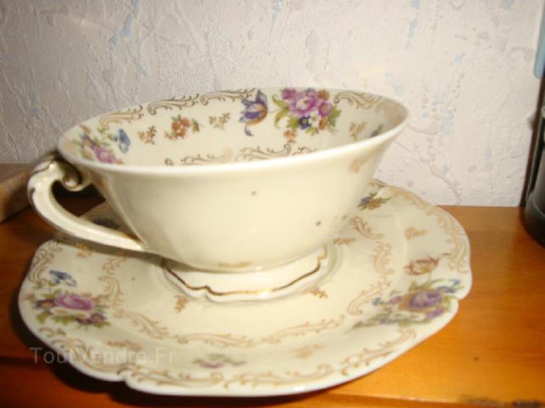 Ancien petit déjeuner porcelaine de Limoges fine 102502134