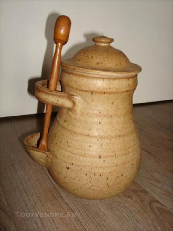 Ancien pot à cornichons en grès 74003450
