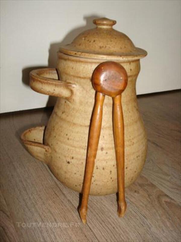 Ancien pot à cornichons en grès 74003451