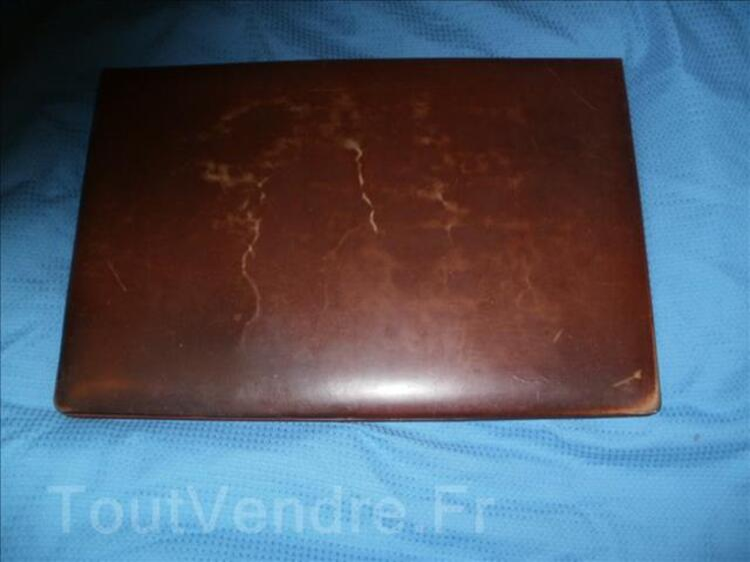 Ancien sous main cuir de notable avec compartiment 93754967