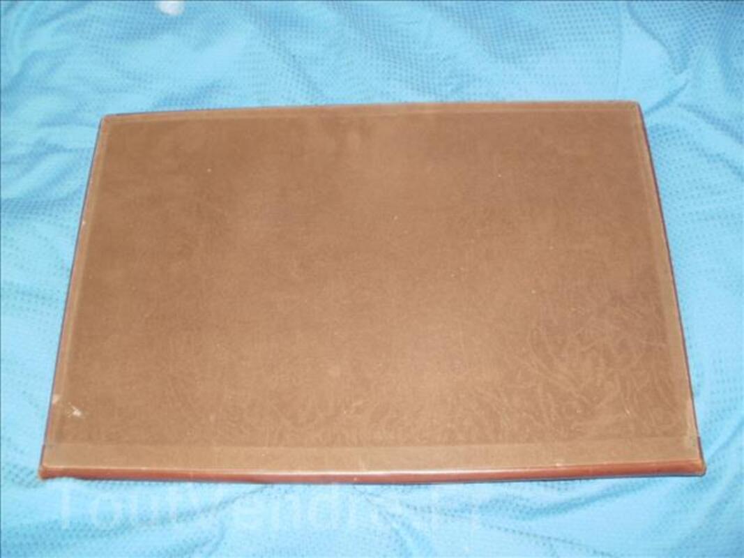 Ancien sous main cuir de notable avec compartiment 93754970
