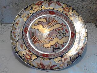Ancienne Assiette Imari Porcelaine Antiquité suxn