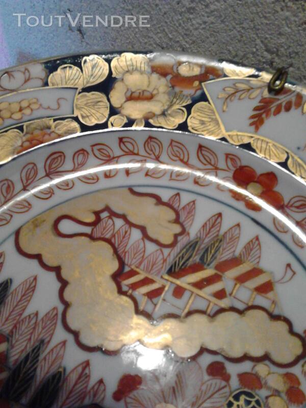 Ancienne Assiette Imari Porcelaine Antiquité suxn 165312361